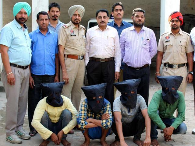 The accused in CIA custody in Ludhiana on Monday.