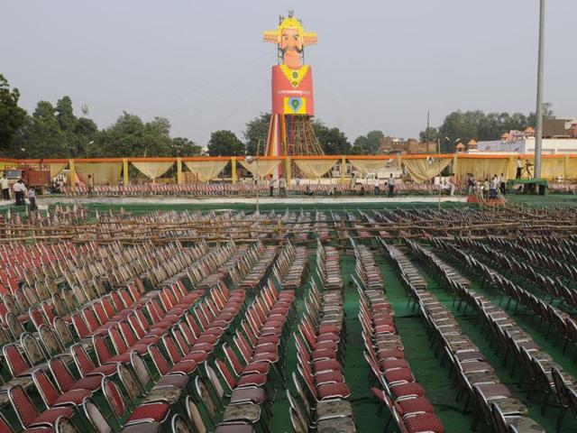 Prime Minister Narendra Modi is attending the Aishbagh Dussehra celebrations in Lucknow this year.
