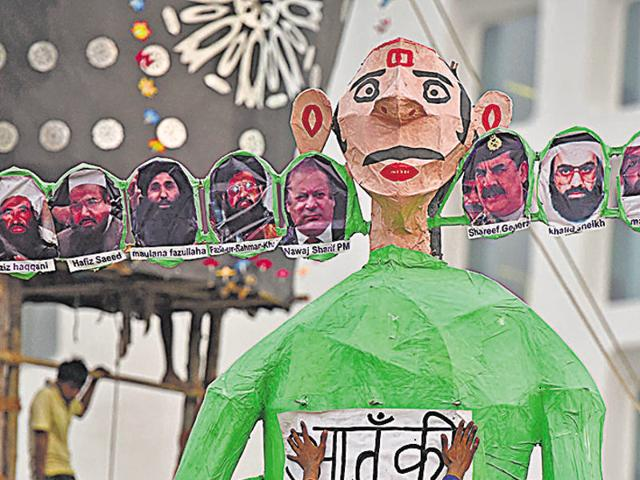 "The Ramlila organisers at Indraprastha are planning to burn an effigy that signifies ""Terrorist nation Pakistan"""