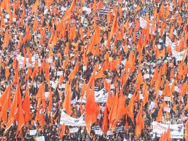 A file photo of the Maratha protest rally.