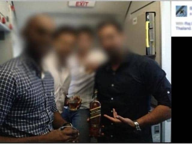An anonymous complainant had sent this picture to the aviation regulator.
