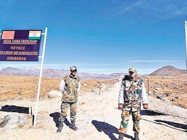 Army personnel keep a vigil at the Bumla pass along the India-China border in Arunachal Pradesh. Both the nations have so far held 19 rounds of boundary talks led by special representatives.