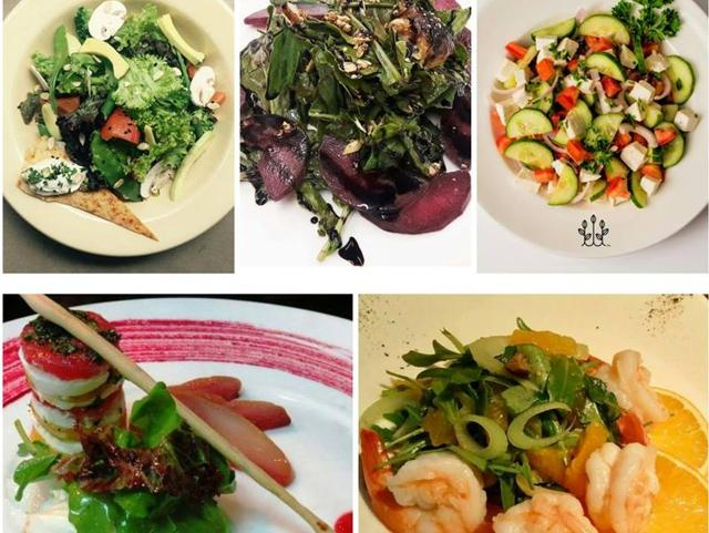 These salads are delightful and tasty