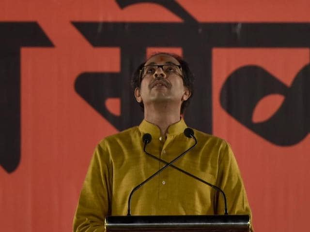 Sena chief Uddhav Thackeray at the Dussehra rally.