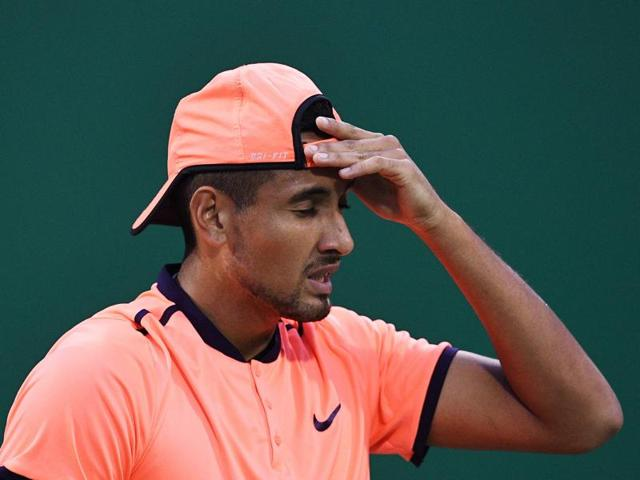 The incident comes after Kyrgios won the third title of his career, and season, at last week's Japan Open.