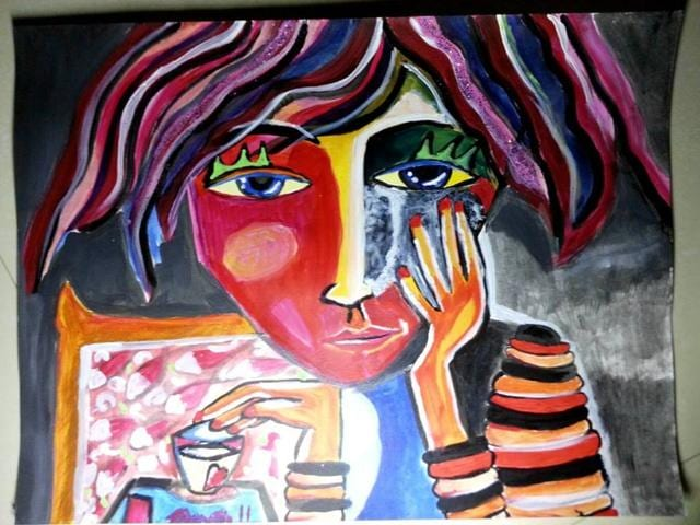 Artwork by young artists from Gaza.