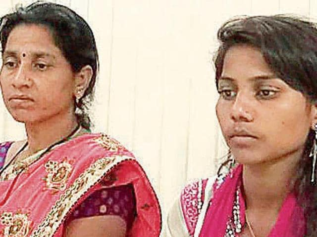 Shweta (right) with her mother at their Vashi home.