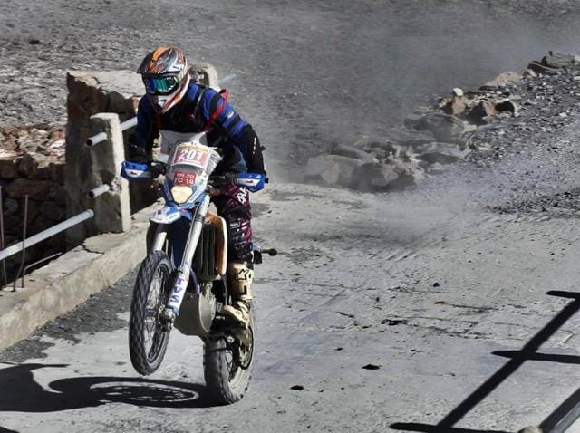 CS Santosh, who took part and won the 2012 Raid de Himalaya, has competed in several cross country rallies around the world, including Dakar where GPS enabled tracking and hazard alarm systems and medevac choppers are standard.