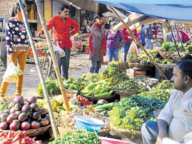 The prices of vegetables have increased by ₹10 to ₹20 in the last couple of days due to the unrest.