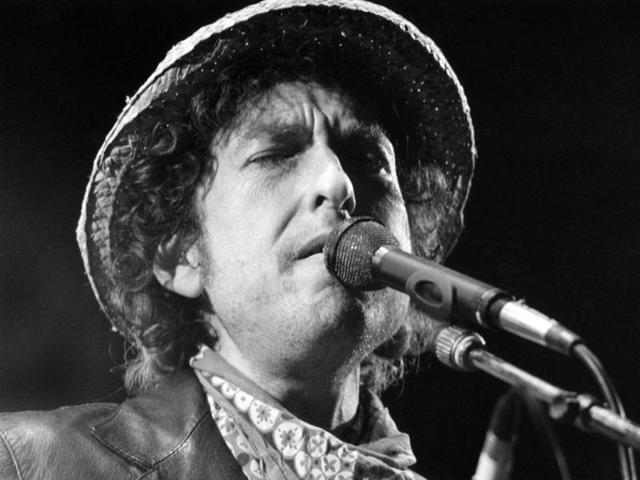 "Bob Dylan, whose most popular songs include Blowin' in the Wind, Mr Tambourine Man, Like a Rolling Stone and A Hard Rain's A-Gonna Fall, was cited ""for having created new poetic expressions within the great American song tradition"". (bobdylan/Facebook)"