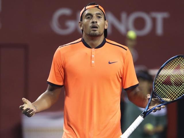 Kyrgios' sledge towards Wawrinka last year earned him a suspended one-month ban from the ATP.