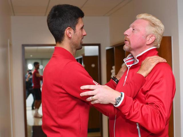 Becker joined Djokovic's coaching team at the start of 2014.