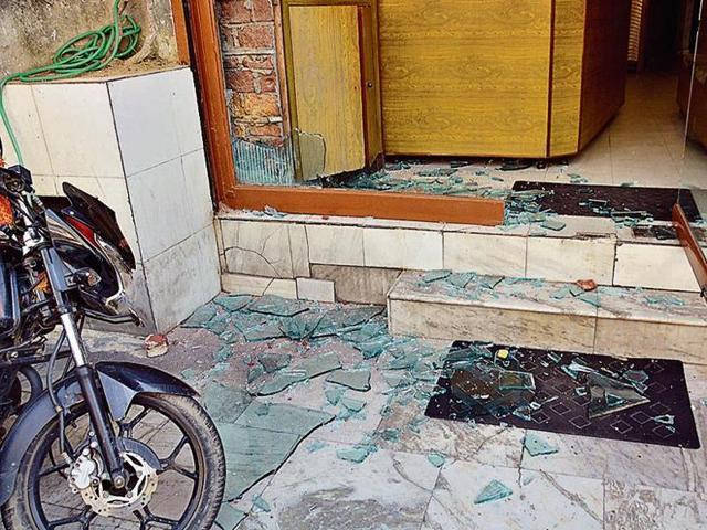 Several people pelted stones at the hotel after the police arrived to rescue the girl.