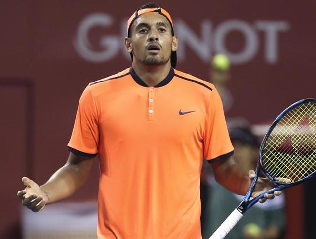 Nick Kyrgios has had a number of scrapes with tennis authorities over his behaviour in the past.