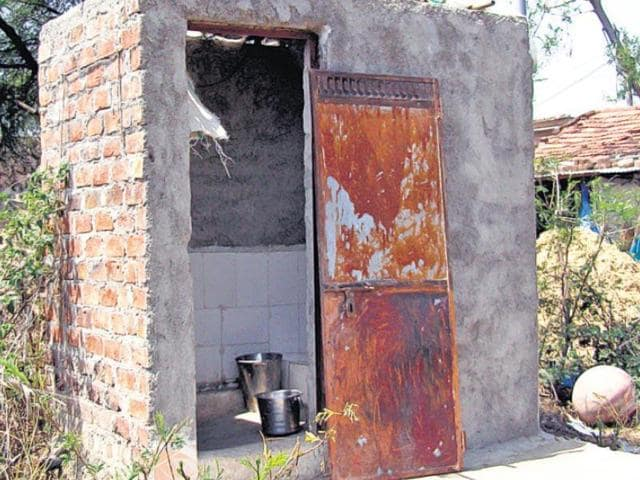 File photo of Prime Minister Narendra Modi  promoting Swachh Bharat Abhiyan in New Delhi. Inspired by the initiative, a resident of Vidhnu village in Kanpur district has built a toilet by selling her 'mangalsutra'.