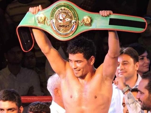 Indian boxer Neeraj Goyat outpunched Australia's Ben Kite to retain the WBC welterweight Asia title.