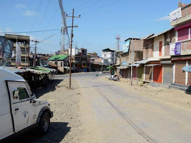 Normal life was paralysed in Manipur on Saturday due to a shutdown called by banned outfits.
