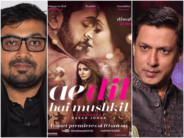 Kashyap is the latest entry in the list of industry stars who have criticised the entire issue around Ae Dil Hai Mushkil. Om Puri, Shyam Benegal, Vikram Bhatt and Mukesh Bhatt, along with actors Sidharth Malhotra, Alia Bhatt and Sushant Singh Rajput have been batting for the film's release.