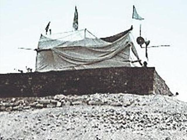 The make-shift temple in Ayodhya