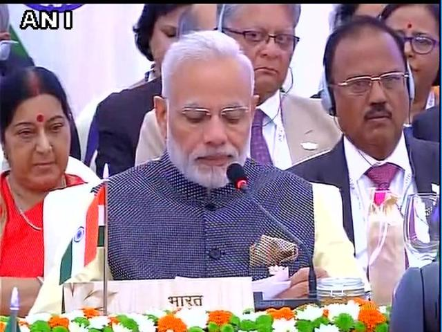 PM Narendra Modi speaks during the plenary session of BRICS Summit.