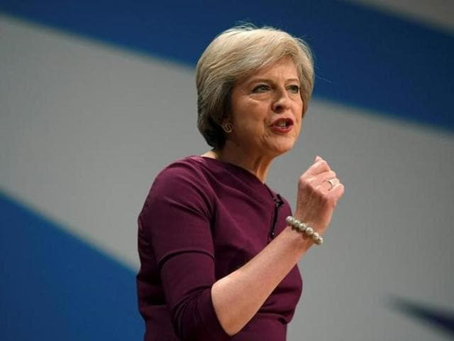Britain's Prime Minister Theresa May campaigns in Hanborough on Saturday for the forthcoming Witney by-election on behalf of the Conservative candidate Robert Courts.