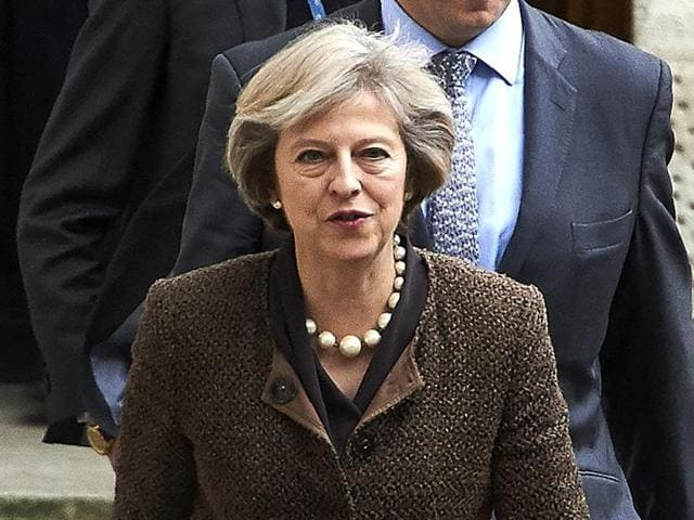 The pound dropped more than 5 percent against the dollar since October 2, when Prime Minister Theresa May (in picture)announced plans to start formal talks on exiting the European Union.