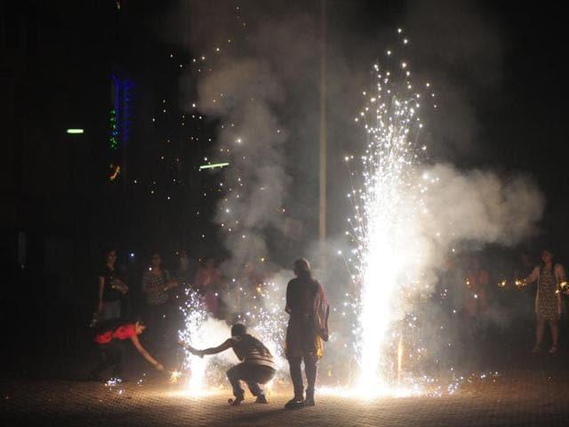 Diwali,firefighters,fire calls