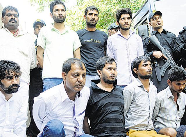 Nine men, suspected to have Maoist links, were arrested in Noida. The Uttar Pradesh Police suspect their intentions were more than just criminal activities.