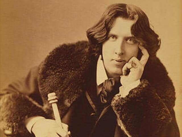 An 1882 photograph of writer Oscar Wilde, taken by  Napolean Sarony.  Why hasn't the LGBT community made Wilde their mascot, asks LGBT activist Ashok Row Kavi?