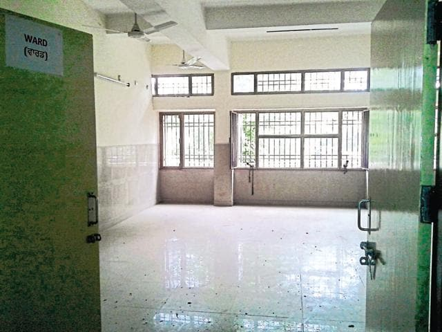 Empty room of the rehab centre.