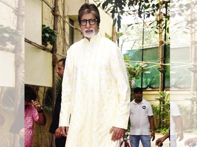 Birthday suit: AB wore a lemon-coloured kurta on his birthday