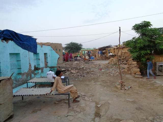 Pakistani Hindu refugees living at Bhil Basti, a massive ghetto at the heart of Jaisalmer in Rajasthan.