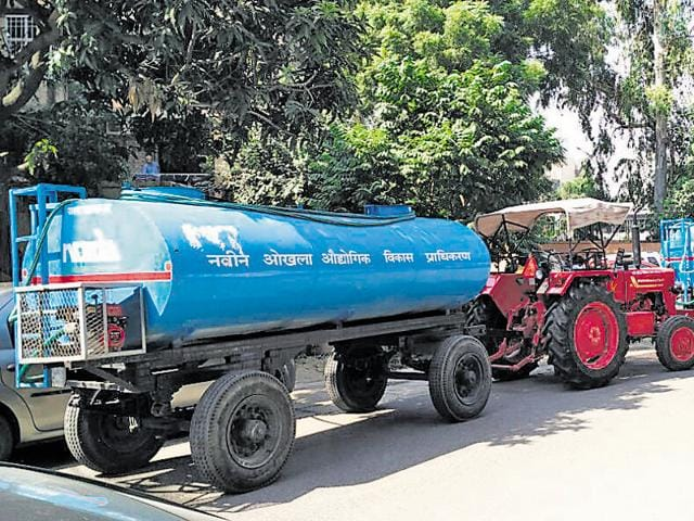 Frantic calls poured in the water cell office of Noida authority on Sunday after taps ran dry in the city.