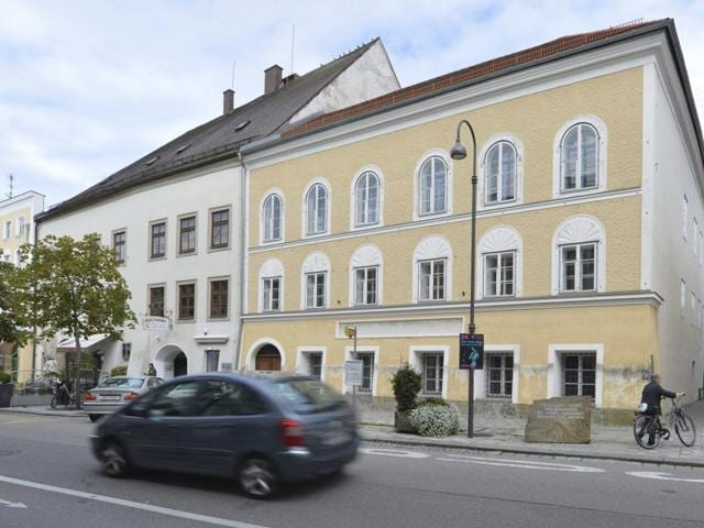 File picture shows an exterior view of Adolf Hitler's birth house, in Austria.