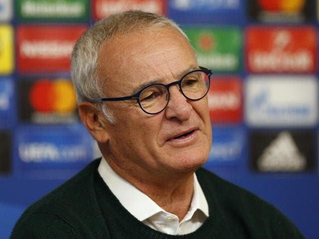Leicester City manager Claudio Ranieri during the press conference.