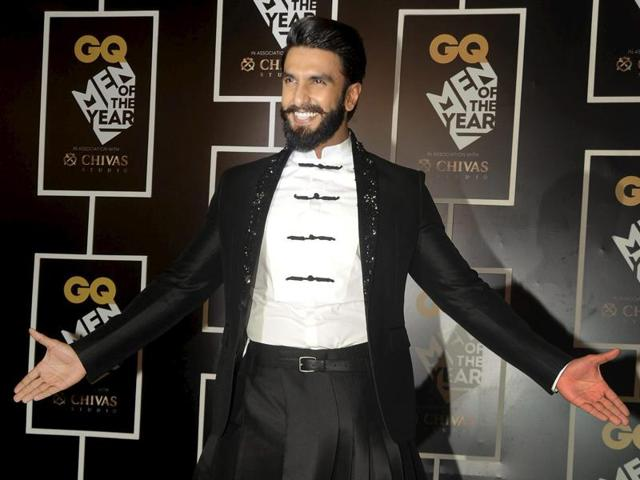 If you are feeling adventurous, go for this half-skirt, half-trouser DSquared2 look sported by actor Ranveer Singh. It is sharp, formal and oh-so-edgy.