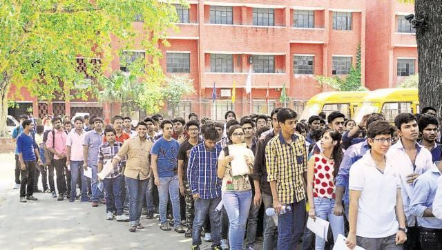 Students coming out after taking the All India Pre Medical Test at the Kerala School in New Delhi. The SC had allowed deemed medical and dental institutes to conduct admissions till October 7.