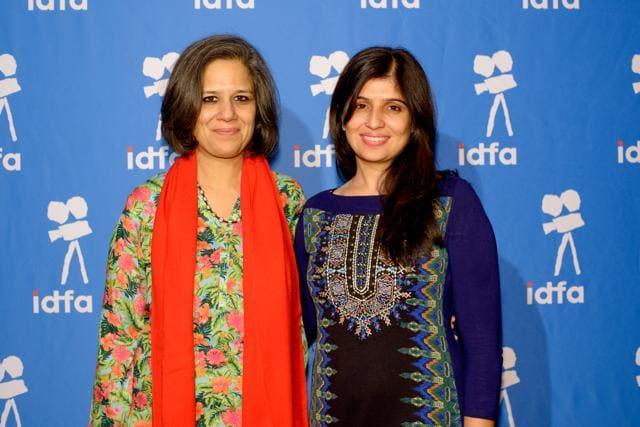 Maheen Zia and Miriam Chandy Menacherry, directors of the Karachi-based documentary Lyari Notes.