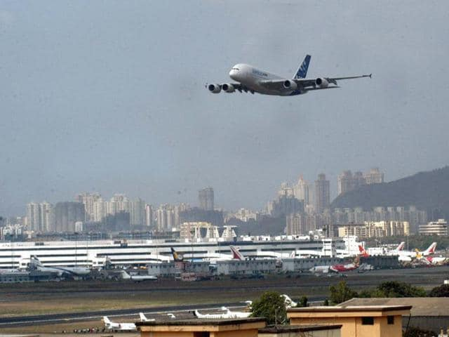 The pilot of a private airline on Tuesday reported seeing a drone while landing at the city airport, leading to a security alert.