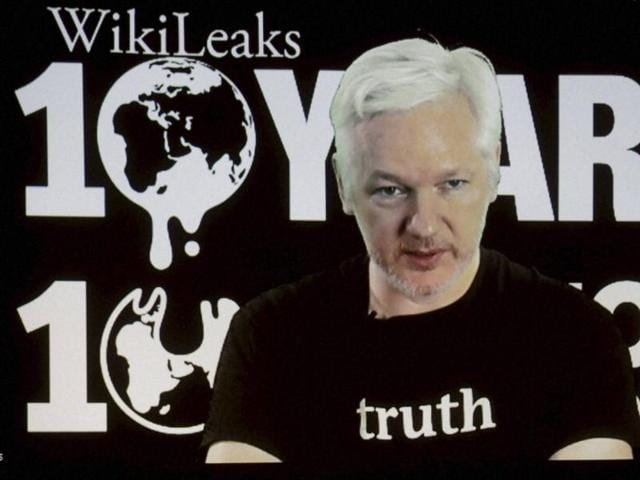 Assange's website has been publishing hacked emails from Clinton's campaign.