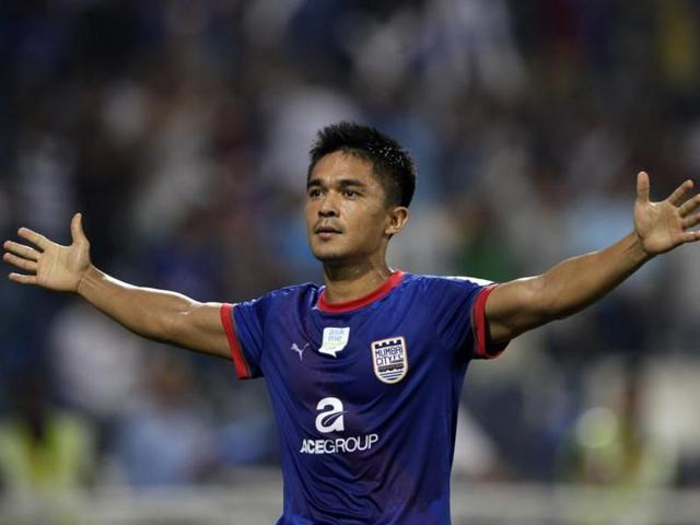 While Forlan is out injured, Sunil Chhetri will be playign the AFCCup semi-final for Bengaluru FC.