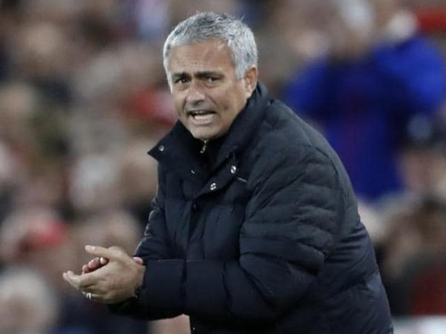 Manchester United manager Jose Mourinho during his team's match against Liverpool.