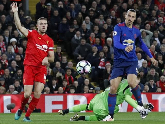 A tame header across goal from Ibrahimovic was the best chance United could muster all night.