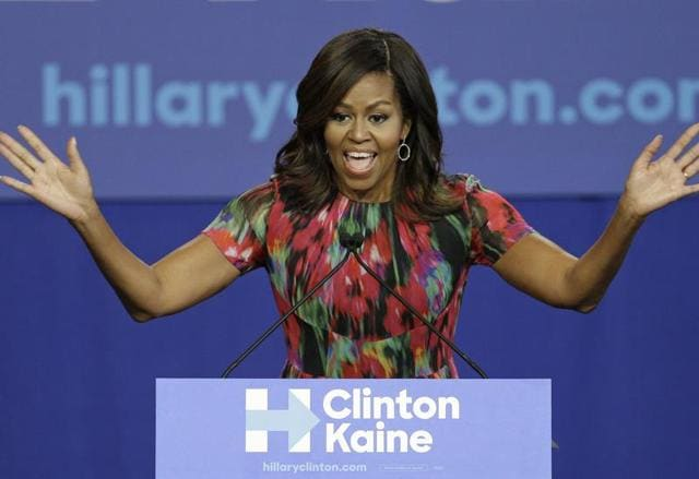Michelle Obama,Hillary Clinton,Democratic Party