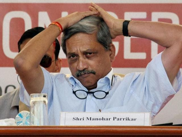 """Defence minister Manohar Parrikar speaks at the inaugural ceremony of """"Tech Fest"""", a unique initiative aimed at creating awareness about the Indian Army in Ahmedabad on Monday."""
