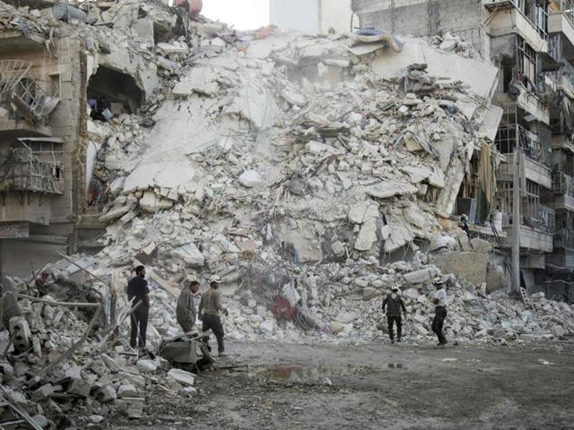 Aleppo,Syria,Russia