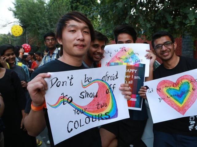 Students and activists from the Capital took to the streets of North Campus during  IIT Delhi's LGBT pride parade.