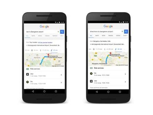 The new feature will help commuters across the country can ask Google for directions, and book ride services directly from Google Search.