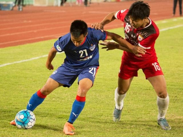 The first leg ended in a 1-1 draw with Eugeneson Lyngdoh scoring for the I-League champions to grab a vital away goal ahead of the second leg match at the Sree Kanteerava Stadium.