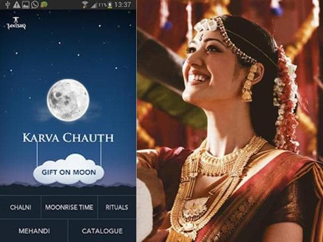 In case your Hindi is not too good, an application - Karvachauth is also available. The app comes with tailor made puja procedures, how to start the fast and the fasting procedures, puja preparation and the Karva Chauth Vrat Katha in English.